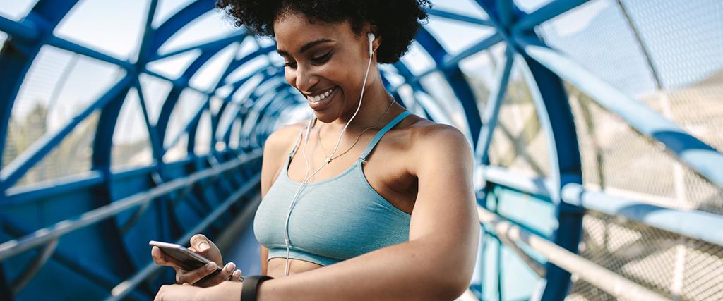 Buiten sporten met een app