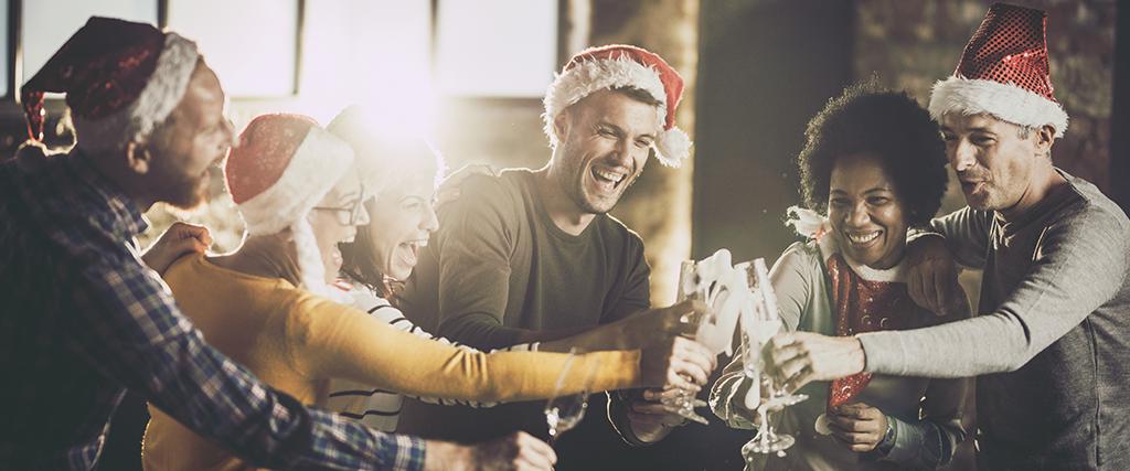 Kerstborrel met collega's