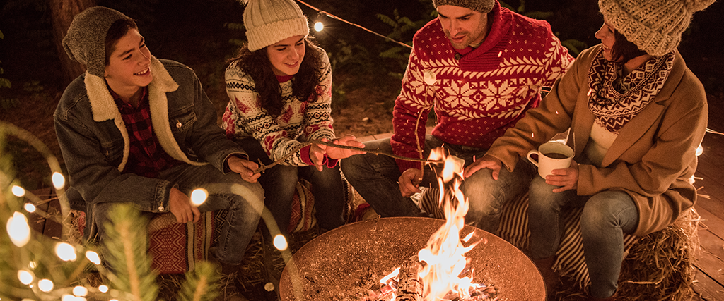 kerst bij het vuur
